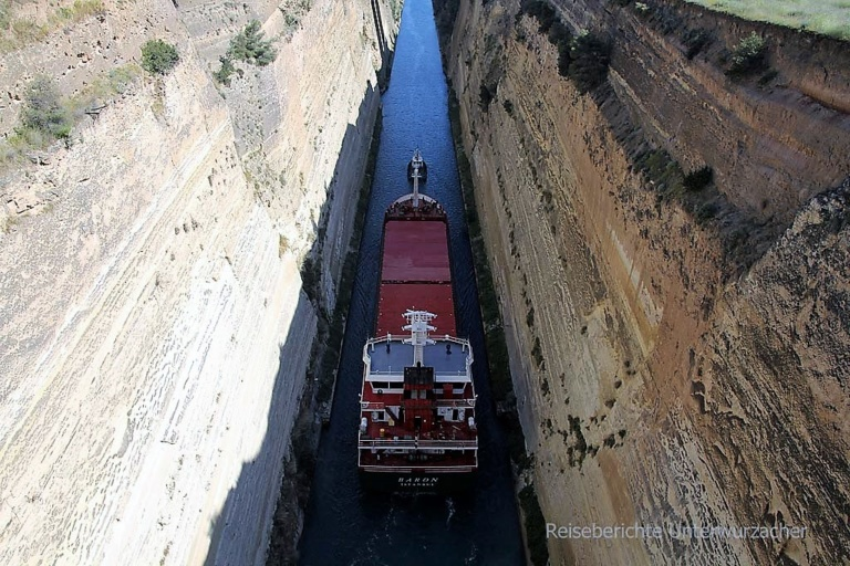80 Meter in die Tiefe - der Kanal von Korinth