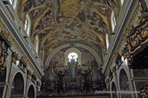 Schöne Orgel und Deckgemälde im Dom zu Laibach ...