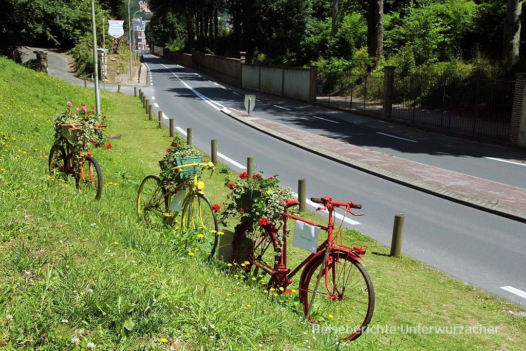 Man merkt es: Hier kommt bald die Tour de France vorbei ...