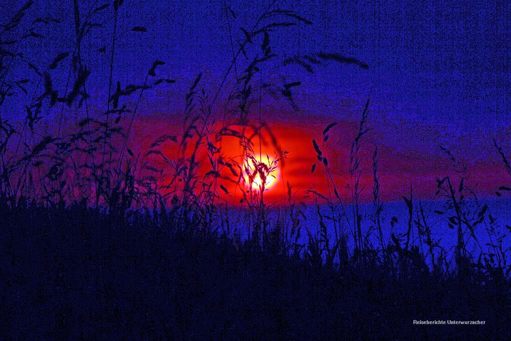 Wunderschöner Sonnenuntergang in der Normandie ...