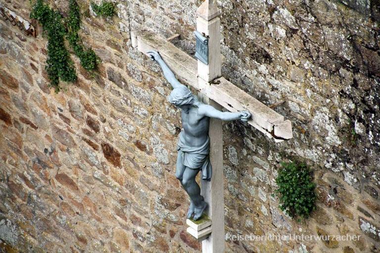 Es gibt auch ruhige Plätze am Mont Saint Michel ...