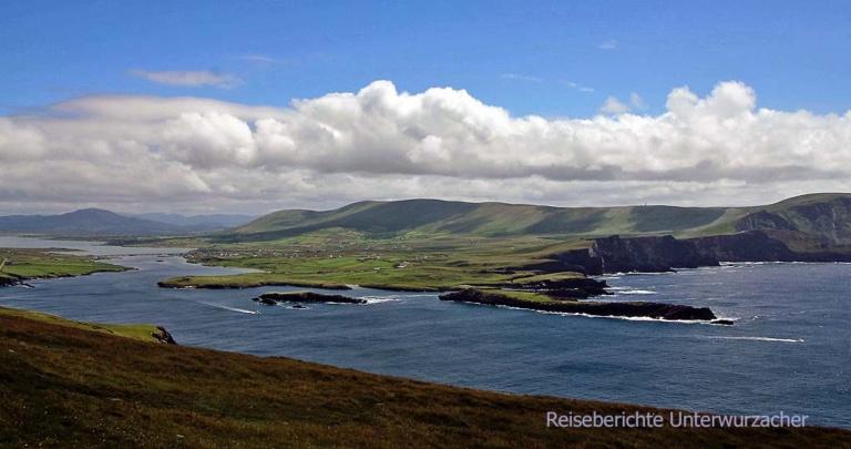Auf dem Weg zum Bray Head wird die Aussicht immer noch schöner ...