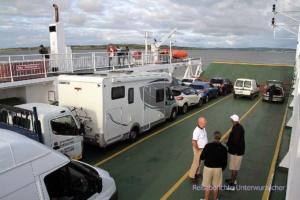 Kurze gemütliche Überfahrt über den Shannon ...