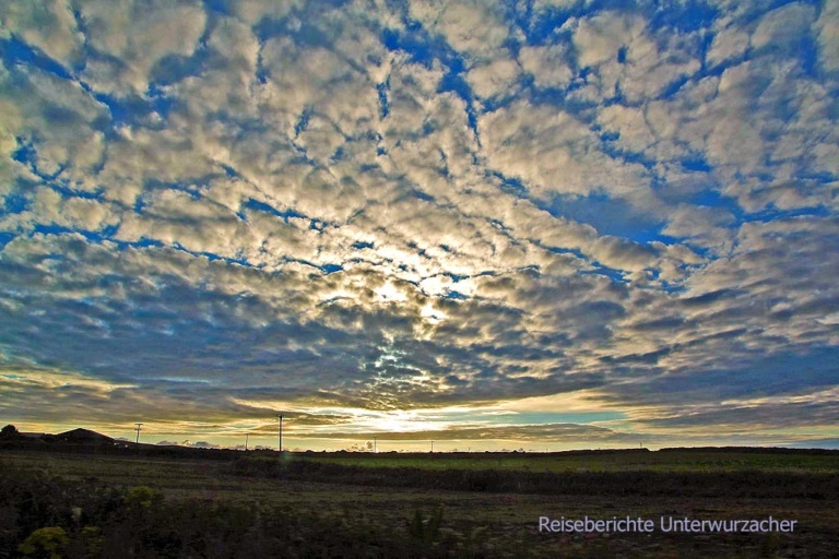 Wolken - das ist das Lieblingsmotiv von Sonja - und hier gibt es besonders schöne ...