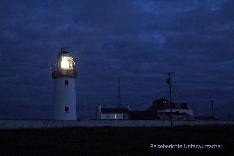 Loop Head Lighthouse bei Nacht ...