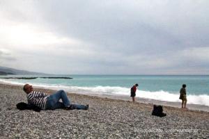 Strand von Menton ...