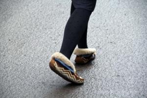 ... nicht jeder hat das geeignete Schuhwerk ...