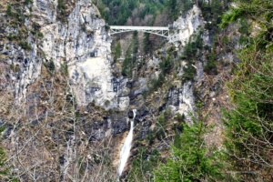 Die berühmte Marienbrücke (leider gesperrt) ...