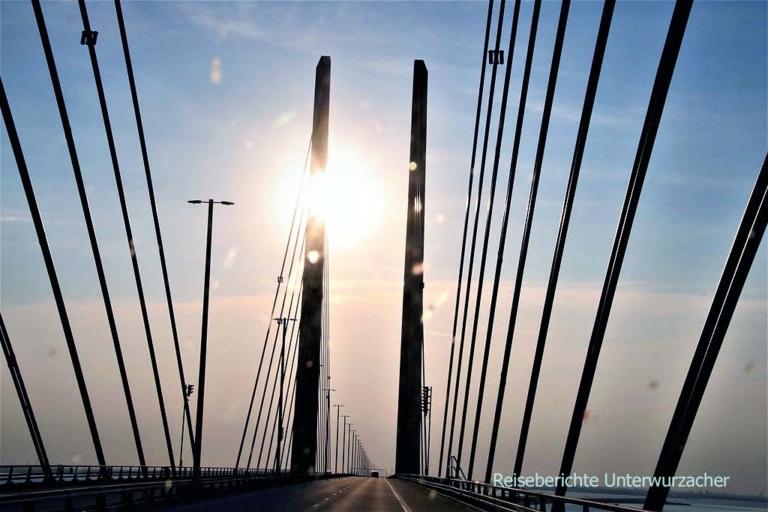 Auf der Öresundbrücke nach Dänemark rüber ...