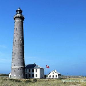 Skagen Grå Fyr (DK) unser erster Leuchtturm auf dieser Reise - zweithöchster des Landes (46 m)