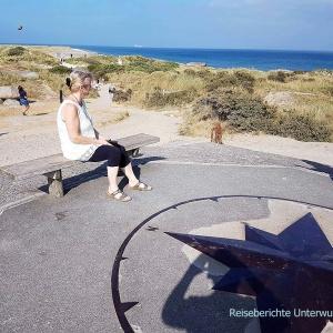 Sonja blickt auf die Ost- und auf die Nordsee ...