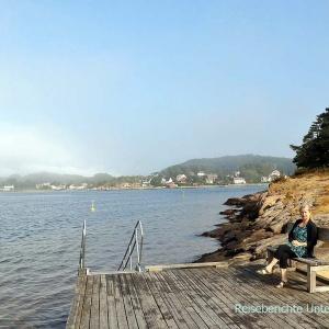 Erste norwegische Pause: Badestrand in Mandal