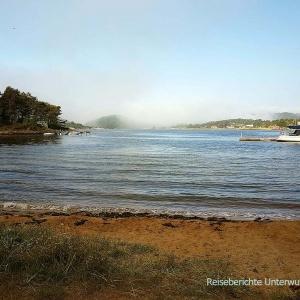 Zum Baden zu kalt aber trotzdem schön: Badestrand in Mandal