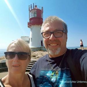 Selfie vor dem Lindesnes Fyr