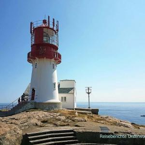 Leuchtturm am Südkap Norwegens: Lindesnes Fyr