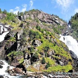 Latefossen - die Zwillingswasserfälle ...