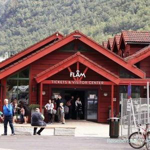 Der berühmte Bahnhof von Flåm ...