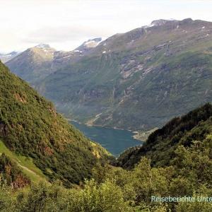 Der Geirangerfjord grüßt uns von Ferne ...