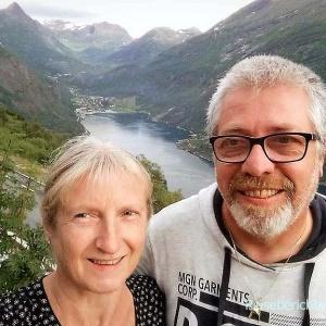 Selfie am Geirangerfjord muss sein ..