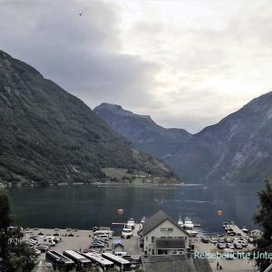 Heute mal kein Kreuzfahrtschiff im Geirangerfjord ...