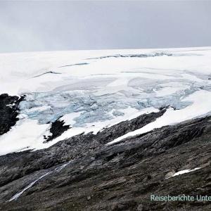 Beeindruckende Gletscher entlang der Geirangerstraße ...