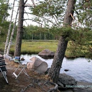 ... hier bleiben wir - Vägsjön (wie ein Handtuch von Ikea ...)