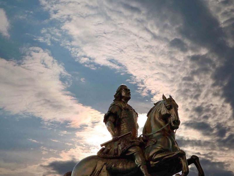 Der Goldene Reiter in Dresden (August der Starke)