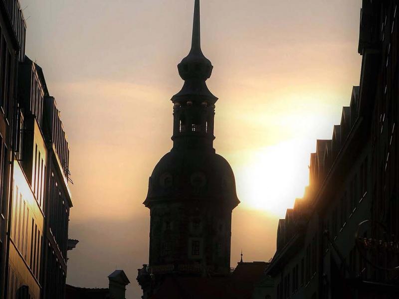 Abendliche Stimmung in Dresden ...