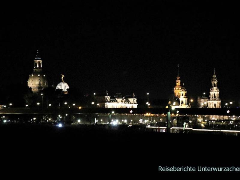 Dresden bei Nacht hat seinen eigenen Reiz ...