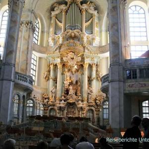 Die barocke, evangelische Frauenkirche in Dresden von innen ...