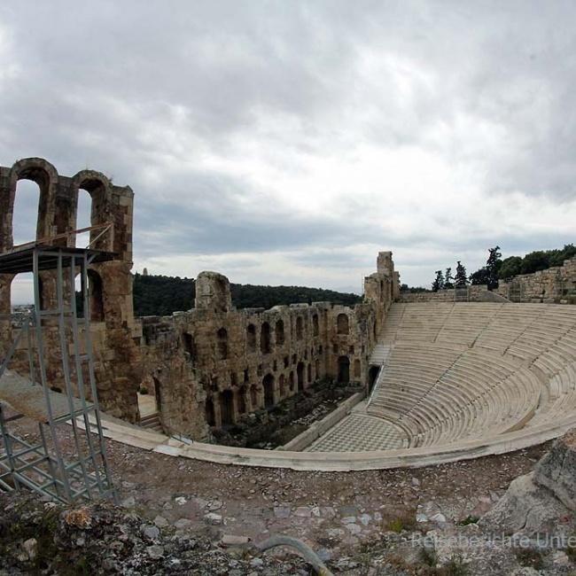 Aufstieg zur Akropolis ...