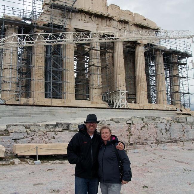 """Ein """"nettes Paar"""" vor der Akropolis ..."""