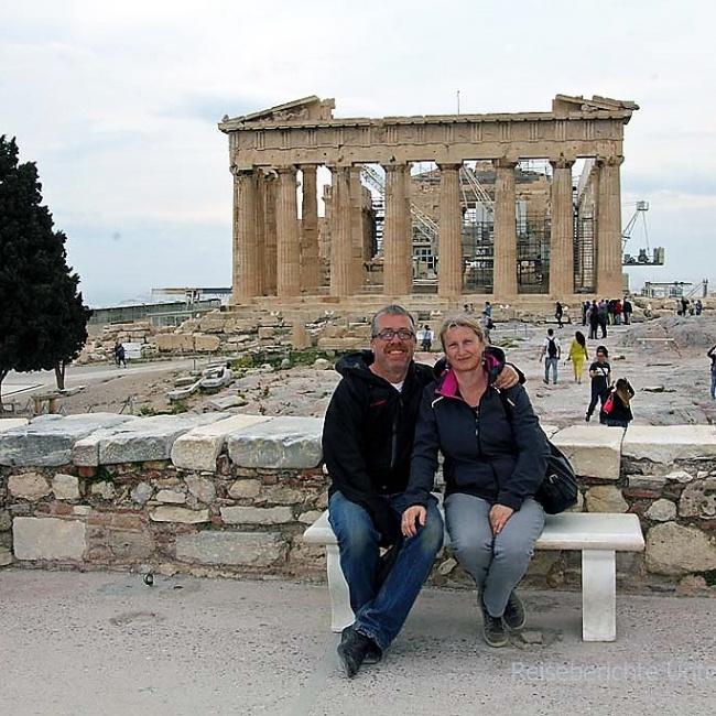 Erinnerungsfoto auf der Akropolis ...