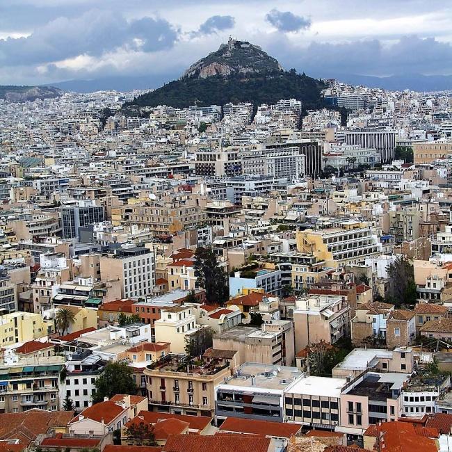 Blick auf Athen gegen Osten ....