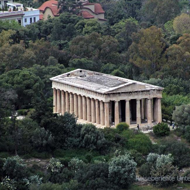 Hephaistos-Tempel - dem Gott der Schmiedekunst geweiht ...