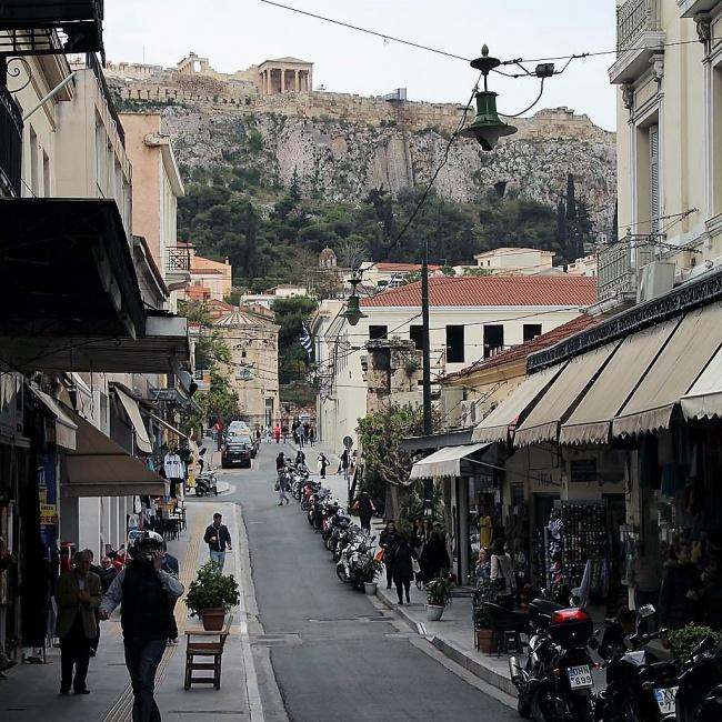 In den Straßen von Athen