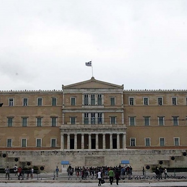 Das griechische Parlament ...