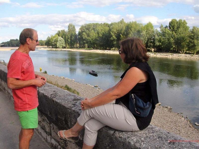 Malerisch: Die Loire in Orléans ...