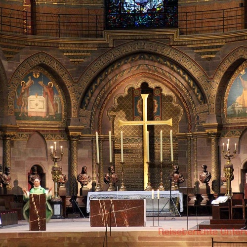 Hl. Messe im Münster zu Straßburg ...