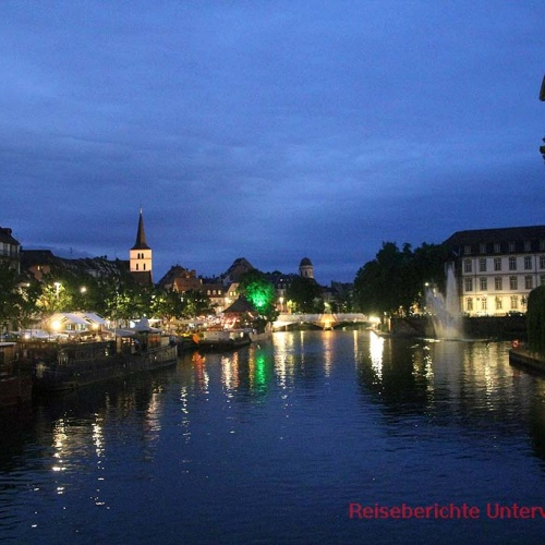 Straßburg bei Nacht ...