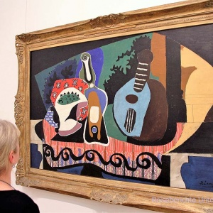 Auch Kunst muss sein: Ein Picasso in der National Gallery of Irland: Still Life with a Mandolin ...