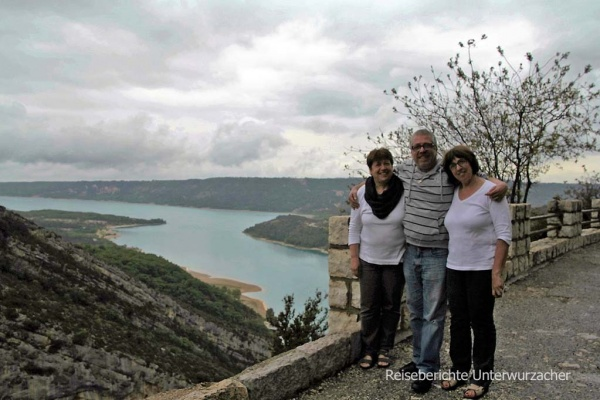 Familienfoto am Lac de Saint-Croix ...