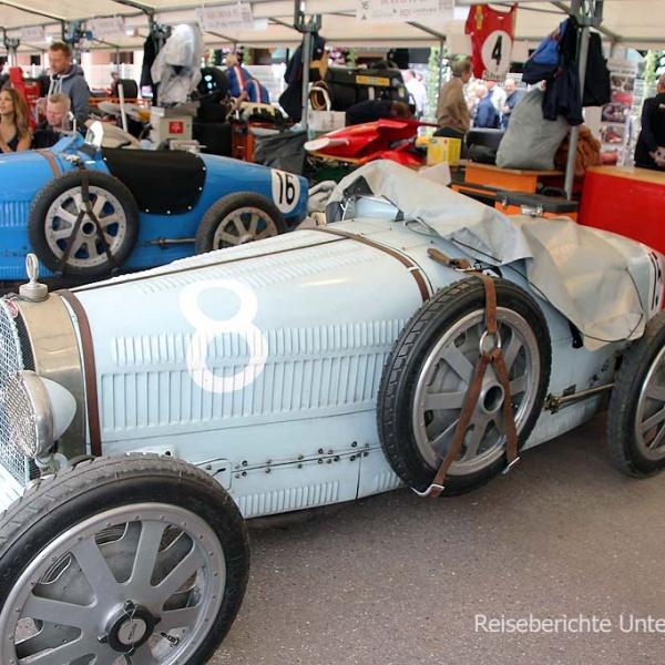 ... mit Rennwagen von 1927 bis 1980 ...