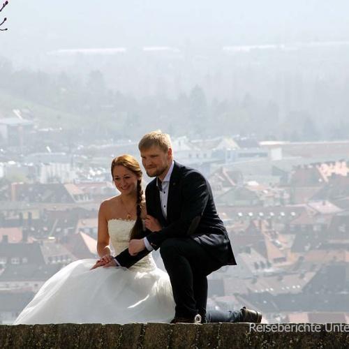 Ein Brautpaar nützte den schönen Tag und holte den Fototermin nach ...