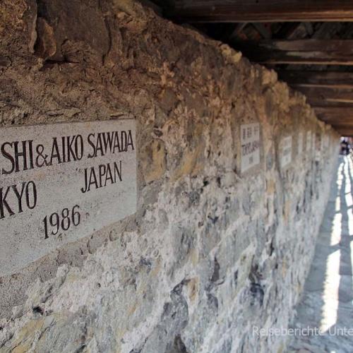 ... auch auf der Stadtmauer kann man den asiatischen Einfluss erkennen ...