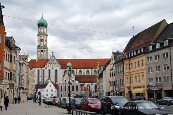 Blickrichtung St. Ulrich Kirche ...