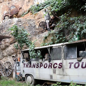Touristentransporte bringen nicht nur Schafe ins Museum ...