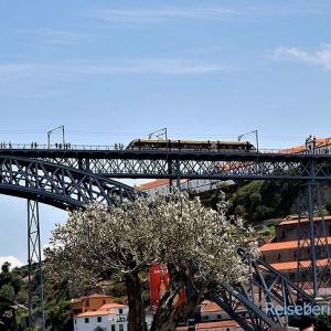 Erbaut von einem Eiffelschüler - Ponto Dom Luis I über den Douro ...