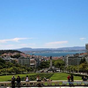 Aussicht auf Lissabon ...