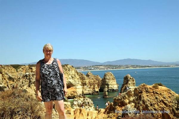 Es ist heiß am Ponte da Piedade in der Algarve ...